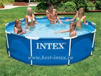 Каркасный бассейн Intex Metal Frame Pool 28200, 305 х 76 см