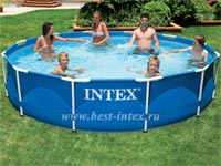 Каркасный бассейн Intex Metal Frame Pool 28210, 366 х 76 см