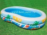 ������� �������� ������� Paradise Seaside Pool Intex 56490, 262 � 160 � 46 ��
